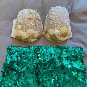Mermaid Costume - handmade